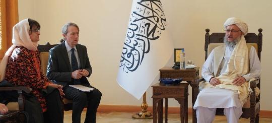 UN special representative meets Afghan deputy prime minister