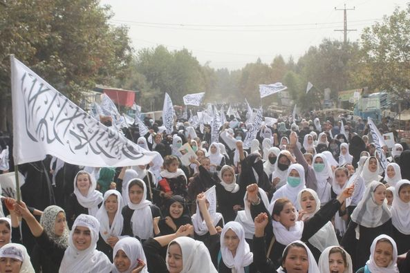 Female students lend support to Islamic Emirate in Kunduz